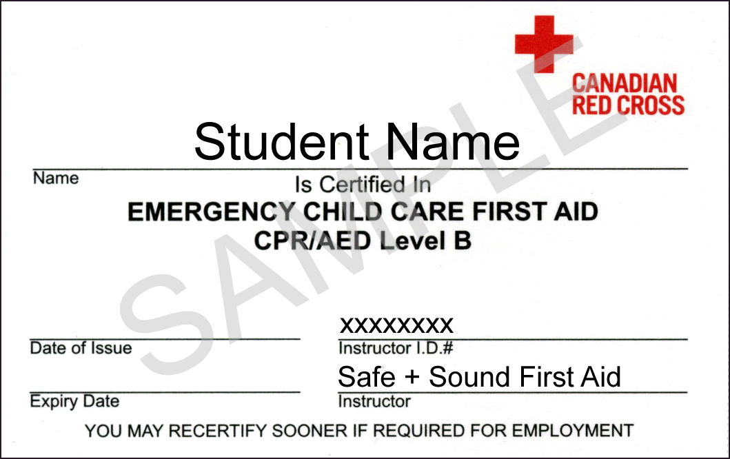 Emergency Child Care First Aid – First Aid Certificate Template