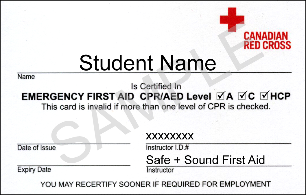 Emergency First Aid CPR – First Aid Certificate Template